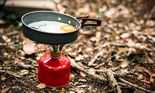 ir de camping por primera vez camping gas